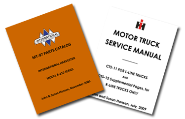 parts and service manuals for r-series pickups  cts-11/12 service manual  for international